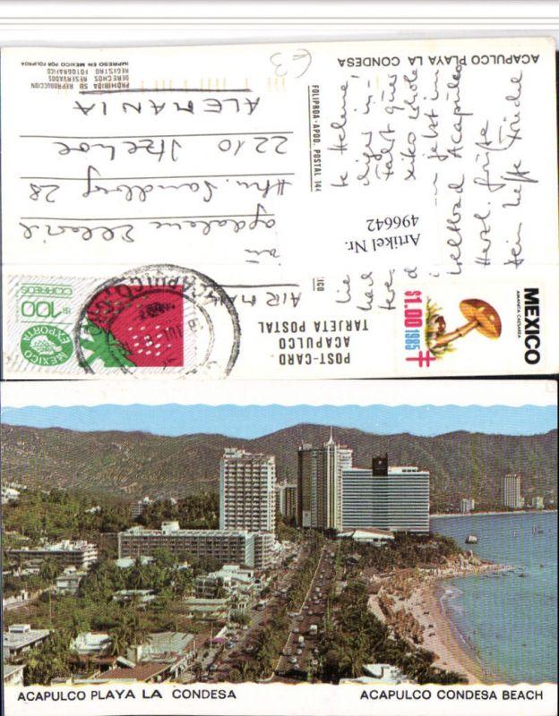 496642,Mexico Guerrero Acapulco Playa la Condesa Teilansicht Strand