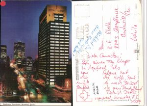 496648,Quebec Montreal Boulevard Dorchester Hydro Gebäude