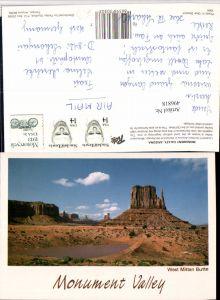 496818,Arizona Monument Valley West Mitten Butte Landschaft