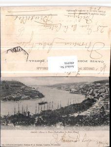 496956,Portugal Porto Barra do Douzo Teilansicht Segelschiffe