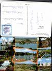 497740,Mattsee Totale Strandbad Boote Mehrbildkarte pub Cosy