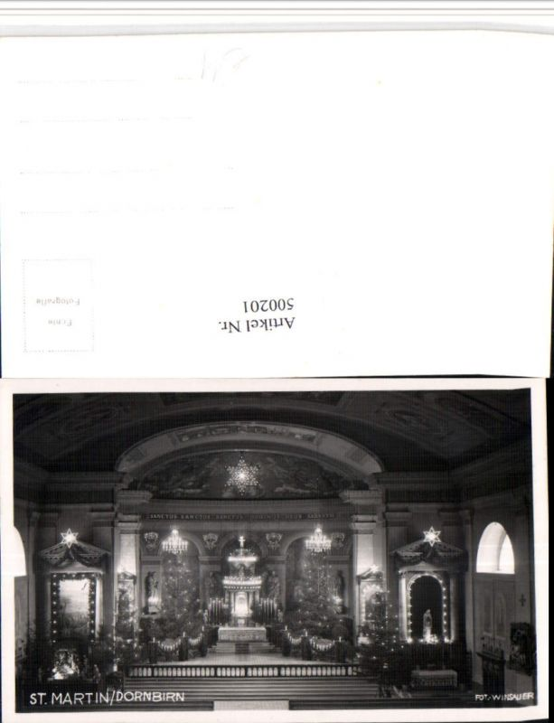 500201,St. Martin b. Dornbirn Kirche Innenansicht