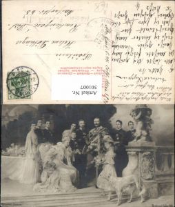 501007,Künstler Ak Ferdinand Keller Kaiser Wilhelm II m. Familie Adel Monarchie pub Rotophot Berlin