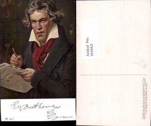 501042,Künstler Ak J. Stieler Beethoven Komponist pub F. A. Ackermann 1467b