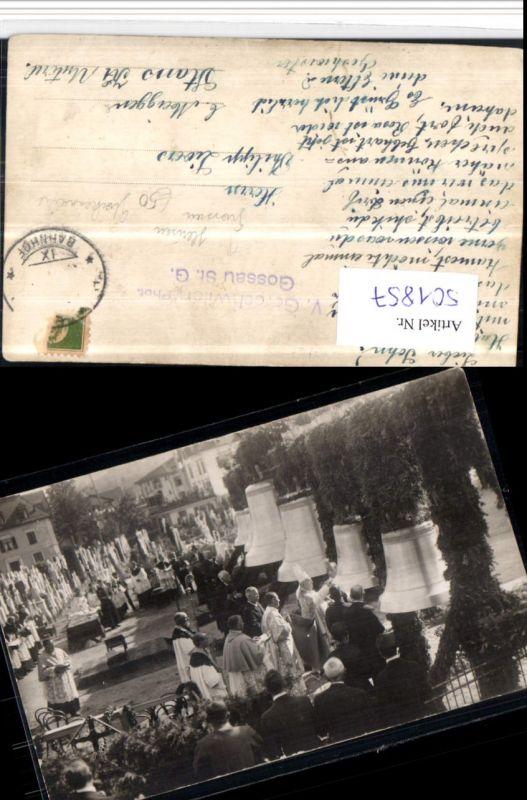 501857,Foto AK Gossau Glockenweihe pub V. Gerschwiler Kt St Gallen
