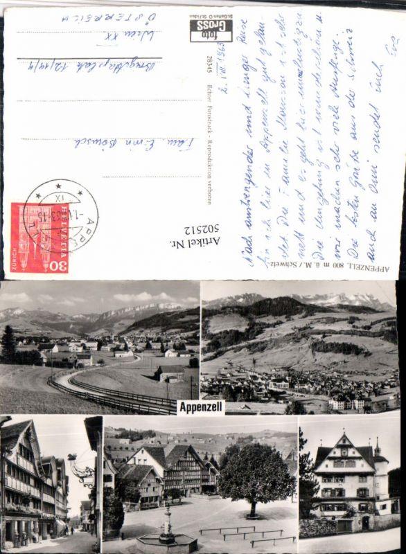 502512,Appenzell Totale Brunnen Straßenansicht Mehrbildkarte