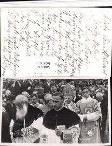 502518,Foto AK Herisau Grundsteinlegung Priester Papst