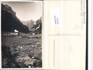 502519,Wasserauen b. Schwende Bergkulisse pub Hans Gross Kt Appenzell