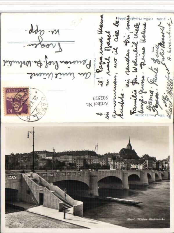 502523,Basel Mittlere Rheinbrücke Brücke