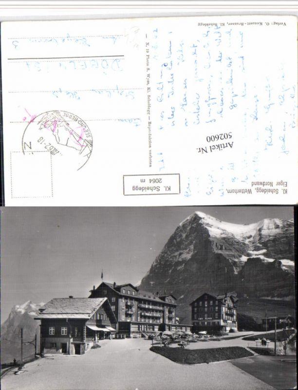 502600,Kleine Scheidegg b. Wengen m. Wetterhorn Bergkulisse Kt Bern
