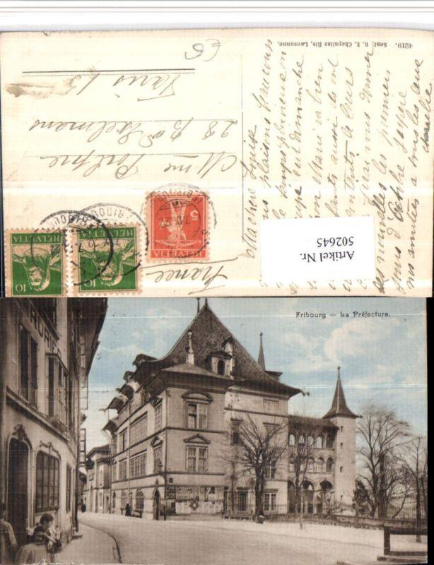 502645,Fribourg Freiburg La Prefecture Straßenansicht Kt Freiburg
