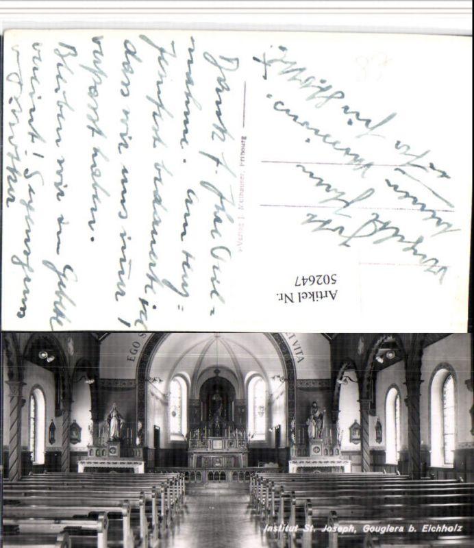 502647,Gouglera b. Eichholz Institut St. Joseph Kirche Kt Freiburg