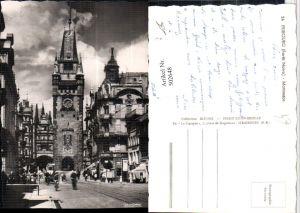 502648,Fribourg Freiburg Martinstor Tor Turm Straßenansicht