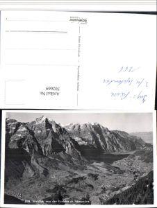 502669,Ausblick von d. Garichte b. Schwanden Bergkulisse Kt Glarus