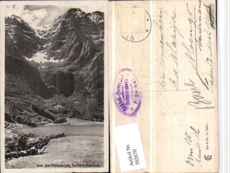 502670,Klöntalersee See m. Glärnisch Bergkulisse Kt Glarus