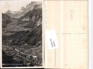 502671,Linthal Totale m. Klausenstraße Bergkulisse Kt Glarus
