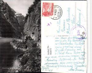 502672,Klöntalersee See m. Postauto Kt Glarus Zensurstelle 226 Stempel