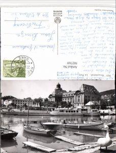 502769,Neuchatel Neuenburg Le Port Hafen Dampfer Boote Schwan