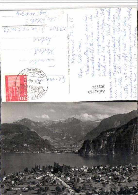 502774,Hergiswil am See Totale Bergkulisse Kt Nidwalden