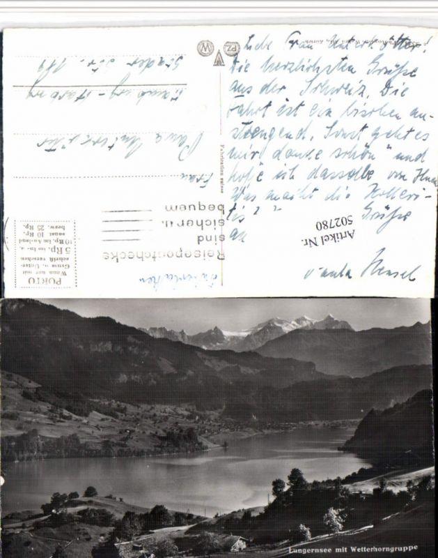 502780,Lungernsee See b. Lungern m. Wetterhorn Bergkulisse Kt Obwalden