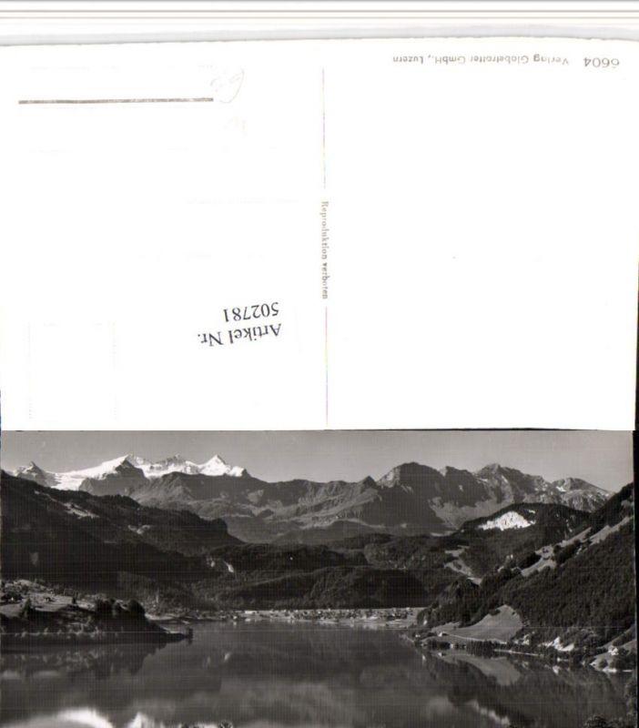 502781,Lungernsee See b. Lungern m. Wetterhorn Bergkulisse Kt Obwalden
