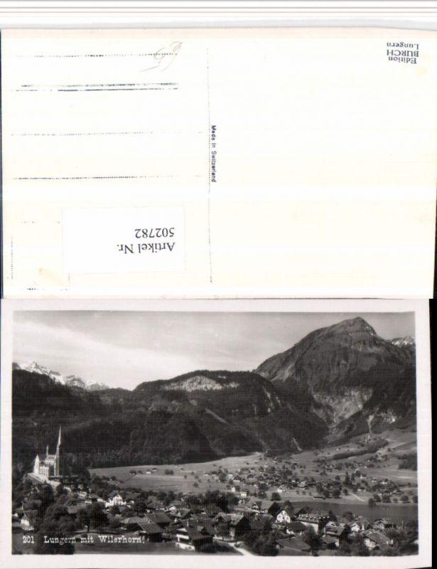 502782,Lungern Totale m. Wilerhorn Bergkulisse Kt Obwalden