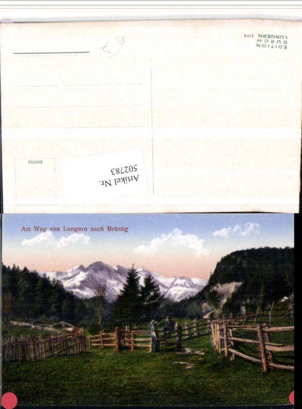 502783,Am Weg von Lungern nach Brünig Bergkulisse Kt Obwalden