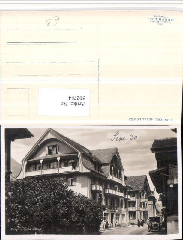 502784,Lungern Hotel Löwen Kt Obwalden
