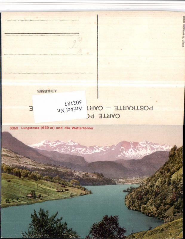 502787,Lungernsee See b. Lungern m. Wetterhörner Bergkulisse Kt Obwalden