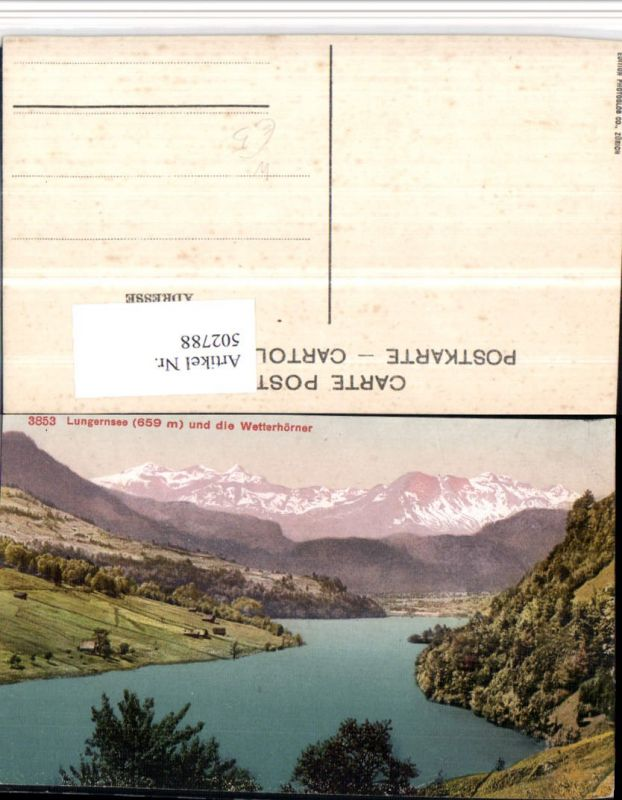 502788,Lungernsee See b. Lungern m. Wetterhörner Bergkulisse Kt Obwalden