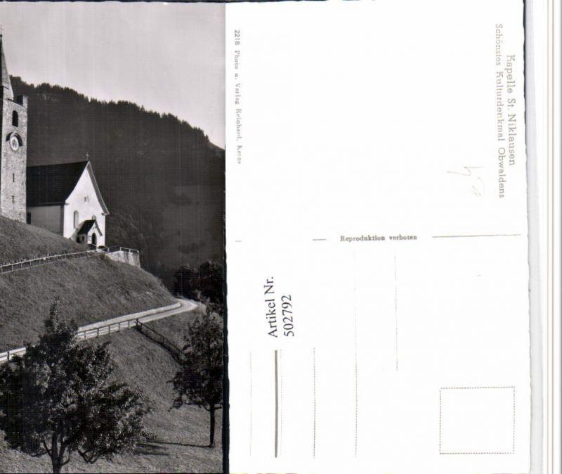 502792,St. Niklausen Kapelle Kirche Kt Obwalden