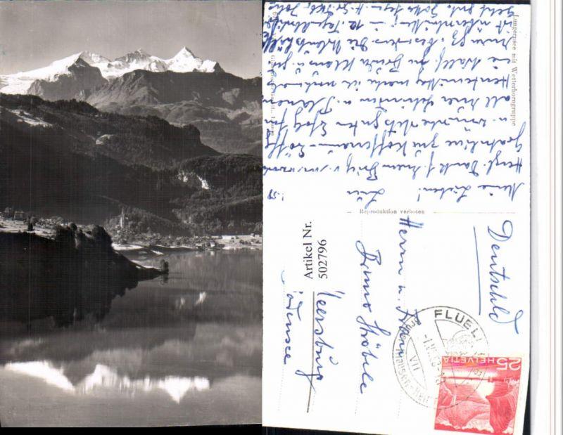 502796,Lungernsee See b. Lungern m. Wetterhorn Bergkulisse Kt Obwalden