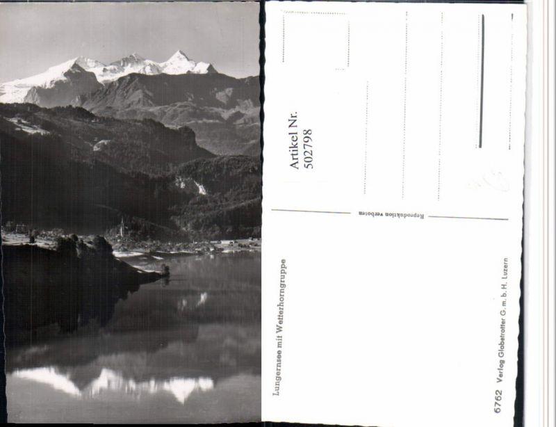 502798,Lungernsee See b. Lungern m. Wetterhorn Bergkulisse Kt Obwalden