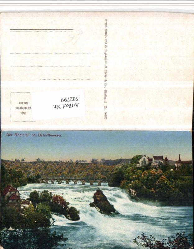 502799,Rheinfall Wasserfall b. Schaffhausen Schloss Brücke