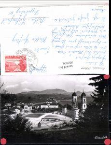 502806,Einsiedeln Teilansicht m. Kloster Kt Schwyz