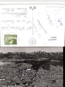 502813,Einsiedeln Totale m. Sihlsee u. Glärnisch Bergkulisse Kt Schwyz