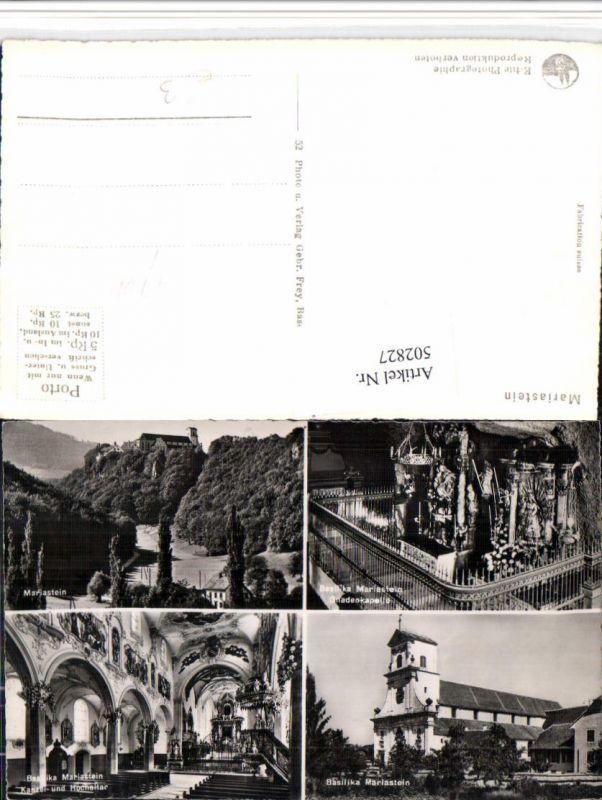 502827,Mariastein b. Metzerlen Kloster Kirche Altar Mehrbildkarte Kt Solothurn