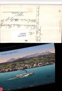 502830,Rorschach Totale Dampfer b. Säntis Bergkulisse Kt St Gallen