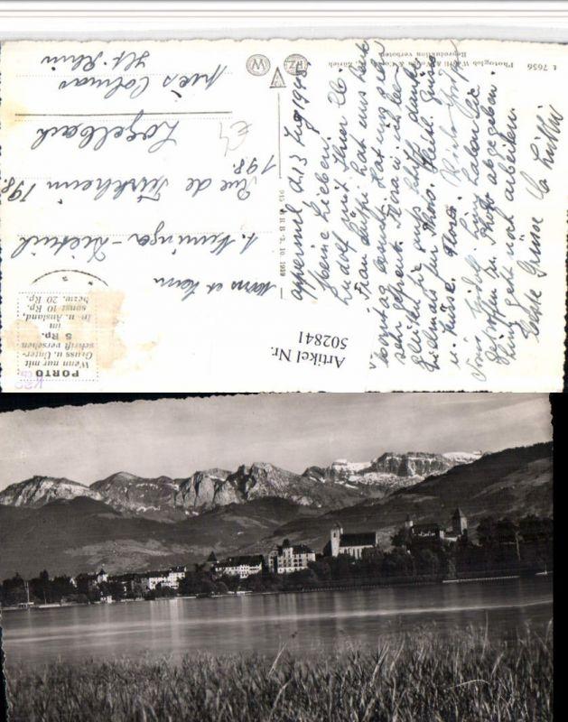 502841,Rapperswil Teilansicht Bergkulisse Kt St Gallen