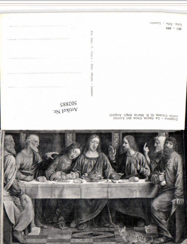 502885,Lugano Santa Cena Luvini nella Chiesa di S. Maria degli Angioli Kt Tessin