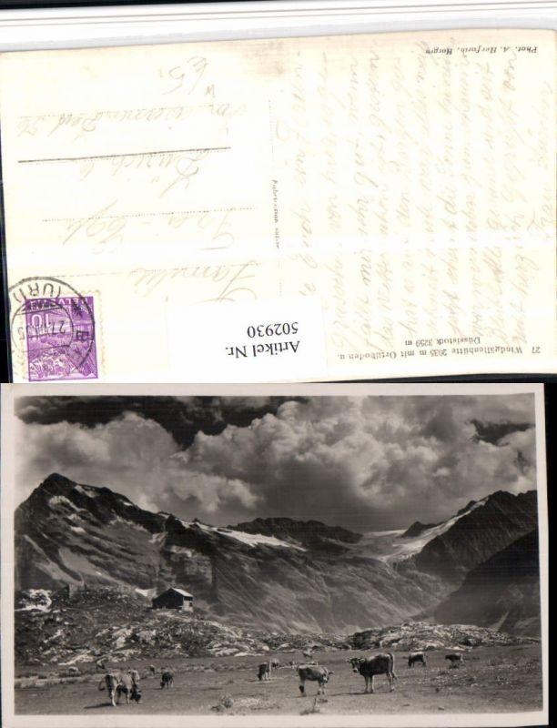 502930,Windgällenhütte b. Unterschächen Bergkulisse Kt Uri
