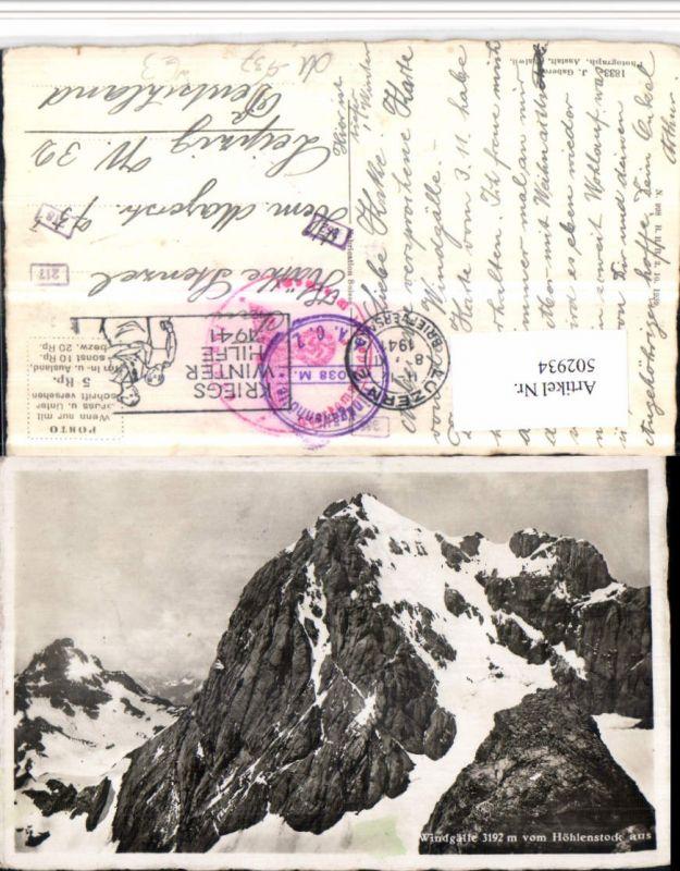 502934,Windgälle vom Höhlenstock b. Unterschächen Bergkulisse Kt Uri