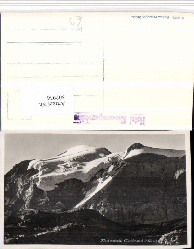 502936,Klausenstraße Claridenstock b. Unterschächen Bergkulisse Kt Uri
