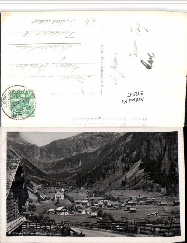 502937,Unterschächen Klausenstraße Totale Kt Uri