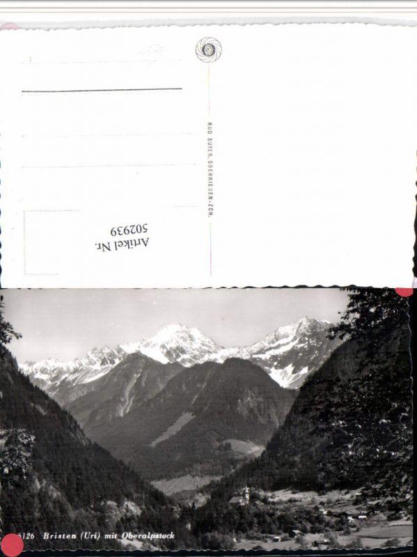 502939,Bristen Totale m. Oberalpstock Bergkulisse Kt Uri