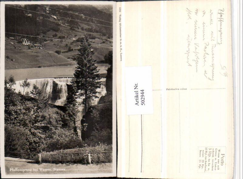502944,Pfaffensprung Wasserfall b. Wassen Stausee Kt Uri