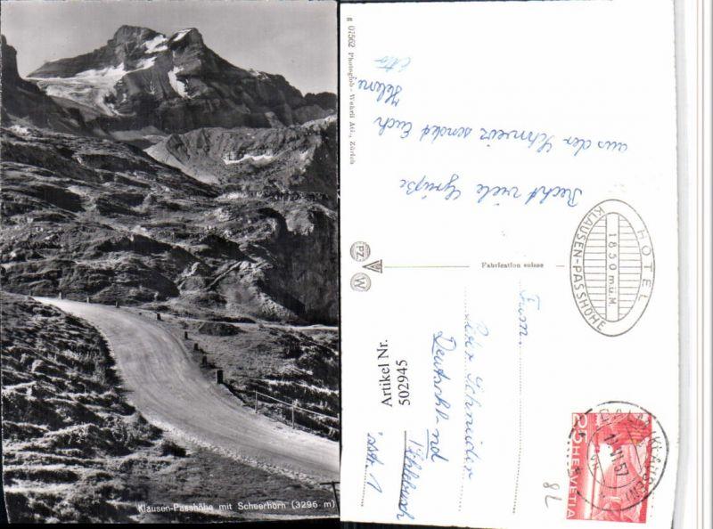 502945,Klausenpasshöhe b. Unterschächen m. Scheerhorn Bergkulisse Kt Uri