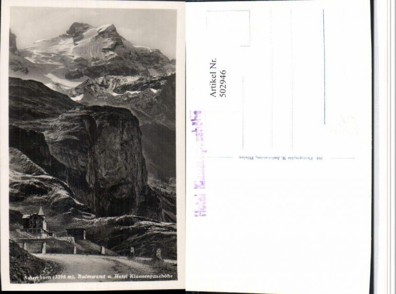 502946,Hotel Klausenpasshöhe b. Unterschächen Bergkulisse Kt Uri