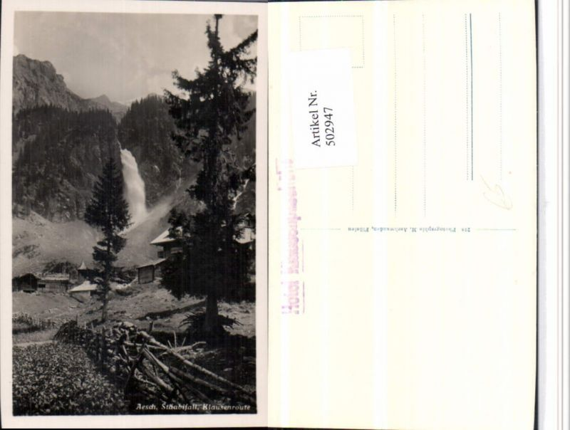 502947,Aesch Stäubifall Wasserfall b. Unterschächen Kt Uri