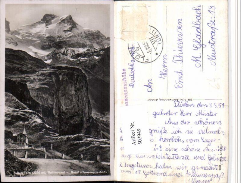 502949,Hotel Klausenpasshöhe b. Unterschächen Bergkulisse Kt Uri